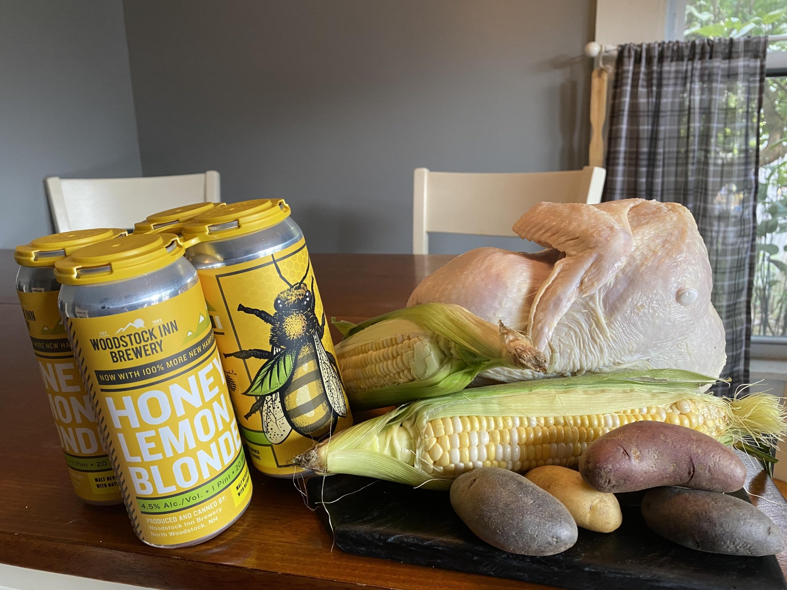Honey Lemon Blonde Beer Can Chicken