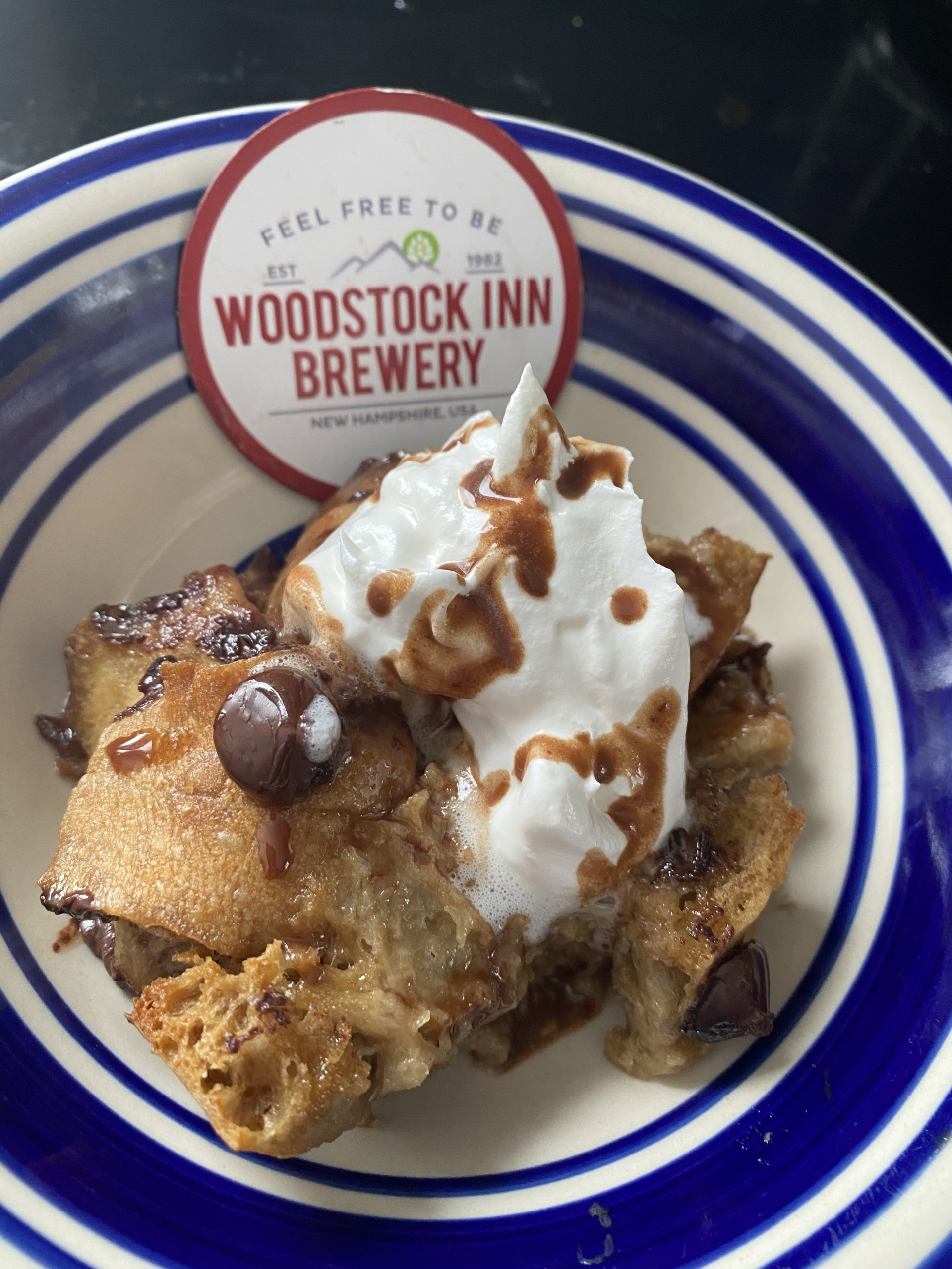 Old Man Oatmeal Stout Chocolate Bread Pudding